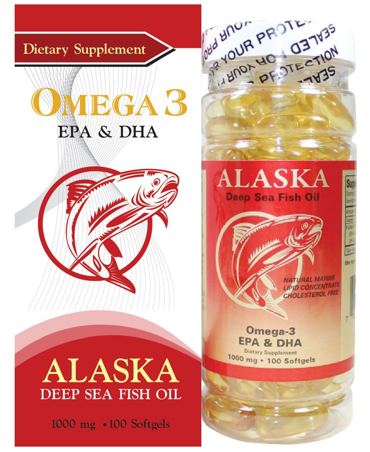 Thực phẩm chức năng ALASKA DEEP SEA FISH OIL OMEGA-3 hộp 1 lọ 100 viên