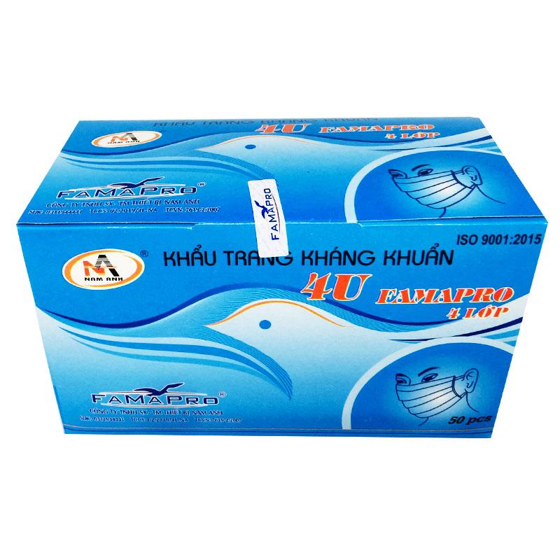 Khẩu trang y tế 4 lớp NAM ANH 4U FAMAPRO hộp 50 cái