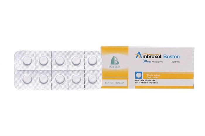 Thuốc tiêu nhầy Ambroxol Boston hộp 3 vỉ x 10 viên