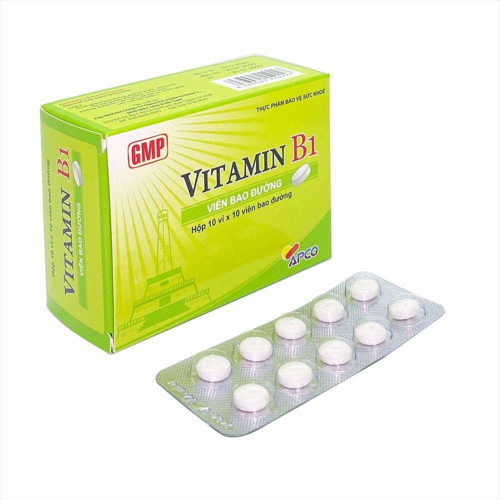 Viên uống bổ sung Vitamin Vitamin B1 (APCO) Viên bao đường hộp 100 viên