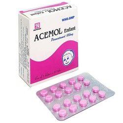 Thuốc giảm đau, hạ sốt Acemol Enfant 100mg (NDP) hộp 100 viên