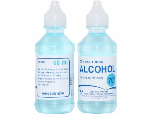 Cồn sát trùng ALCOHOL 70º BIDIPHAR chai 60ml