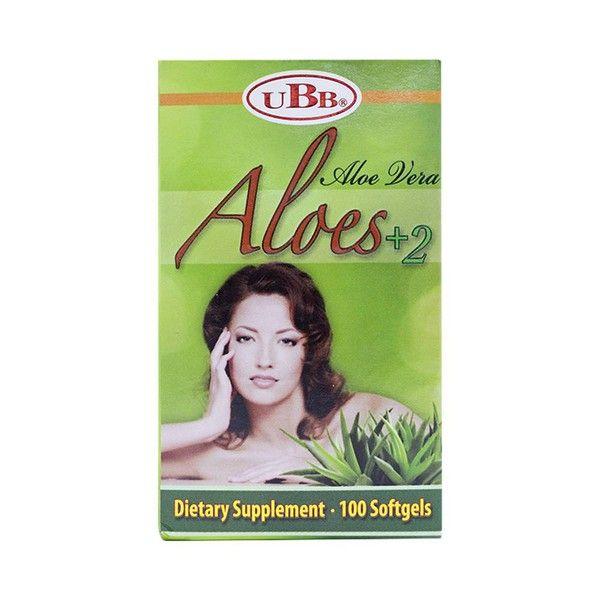 Thực Phẩm Chức Năng Đẹp Da Aloe Vera Aloes 2+ UBB hộp 1 lọ 100 viên