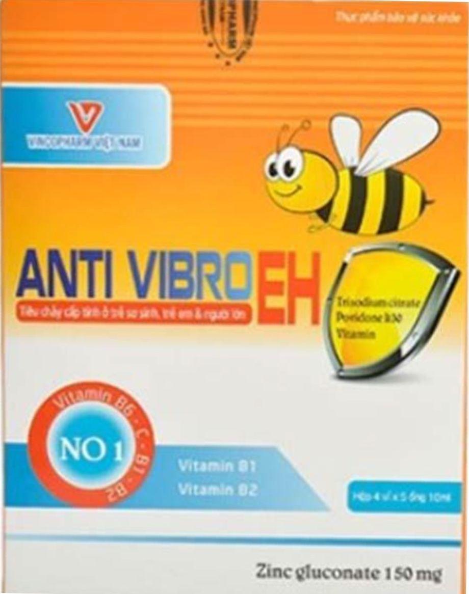 Dung dịch uống hỗ trợ tiêu hóa Anti Vibroeh hộp 20 ống 10ml