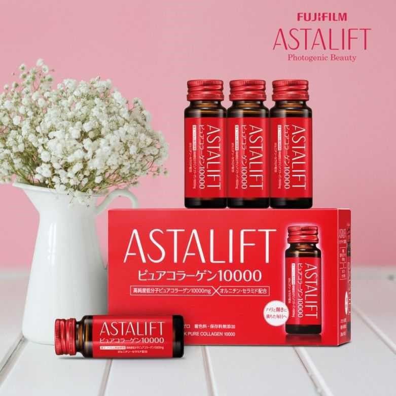 Nước uống bổ sung Collagen Astalift Drink Pure Collagen 10000mg hộp 10 chai x 30ml