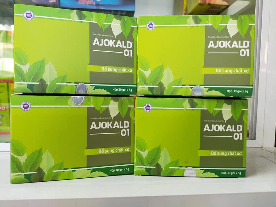 Cốm bổ sung chất xơ Ajokald 01 hộp 30 gói x 5g