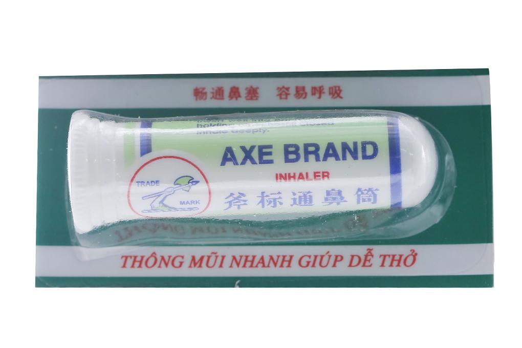 Ống hít trị nghẹt mũi Axe Brand Inhaler vỉ 6 ống x 1,7g dịch thuốc