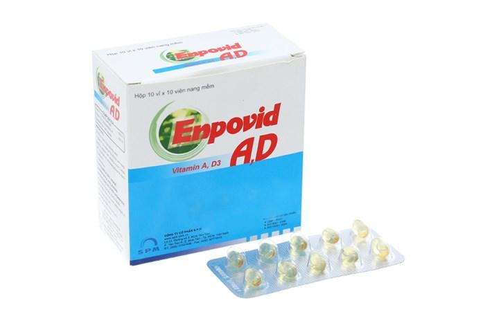 Thuốc bổ sung vitamin A, D Enpovid A, D hộp 100 viên