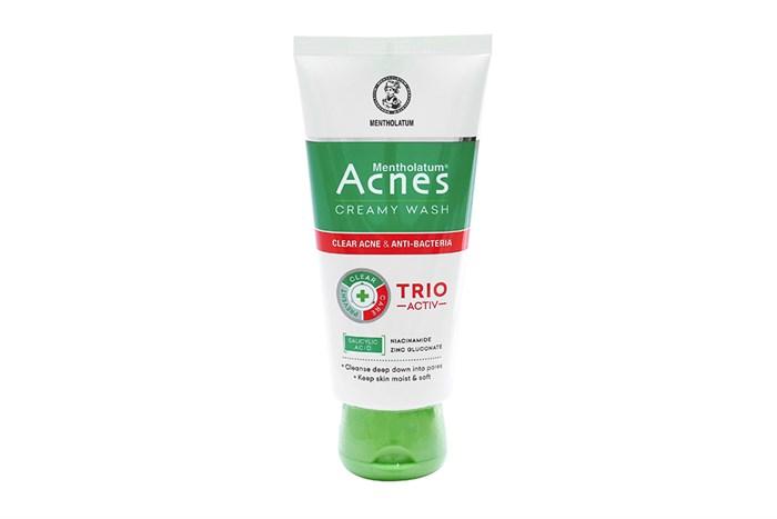 Sữa rửa mặt ngăn ngừa mụn Acnes Creamy Wash Trio Activ tuýp 100g