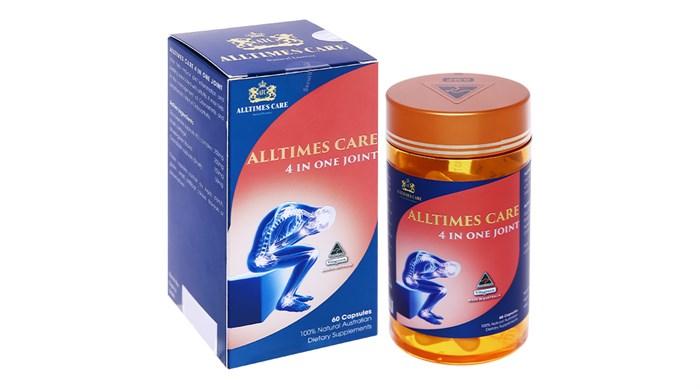 Viên uống hỗ trợ trị thoái hóa khớp Alltimes Care Premium 4 in One Joint hộp 1 lọ 60 viên