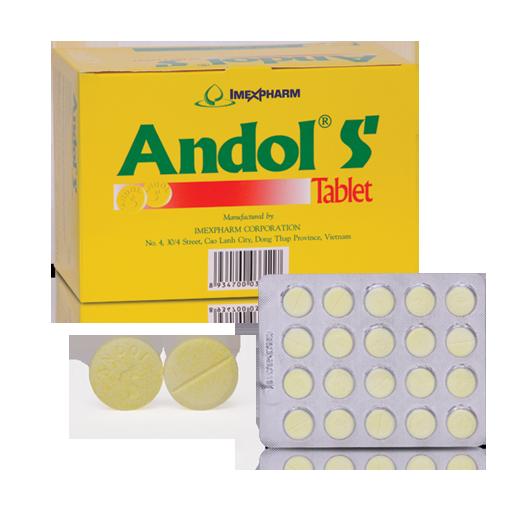 Thuốc điều trị cảm sốt, nhức đầu Andol S hộp 200 viên
