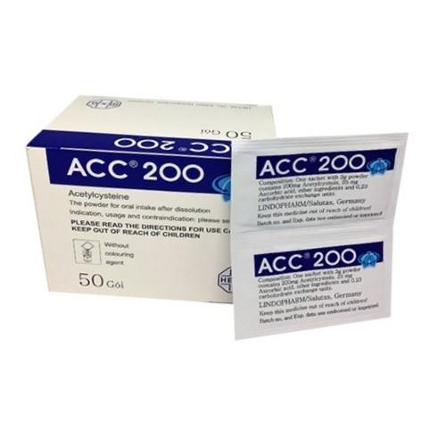 Bột pha dung dịch uống ACC 200 hộp 50 gói x 3 g