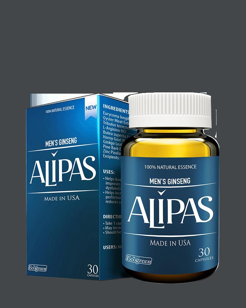 Viên uống tăng cường sinh lý nam Men's Ginseng Alipas (Ecogreen) hộp 1 lọ 30 viên