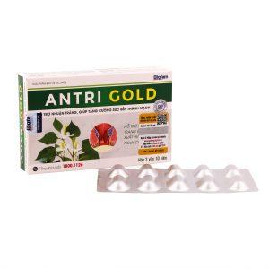 Viên uống ngừa trĩ, nhuận tràng, bảo vệ thành mạch Antri Gold hộp 20 viên