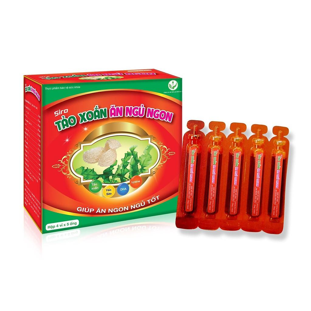 Siro Tảo xoắn ăn ngủ ngon hộp 20 ống