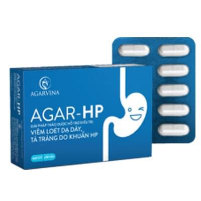 Viên uống hỗ trợ điều trị viêm loét dạ dày, tá tràng Agar-Hp hộp 30 viên