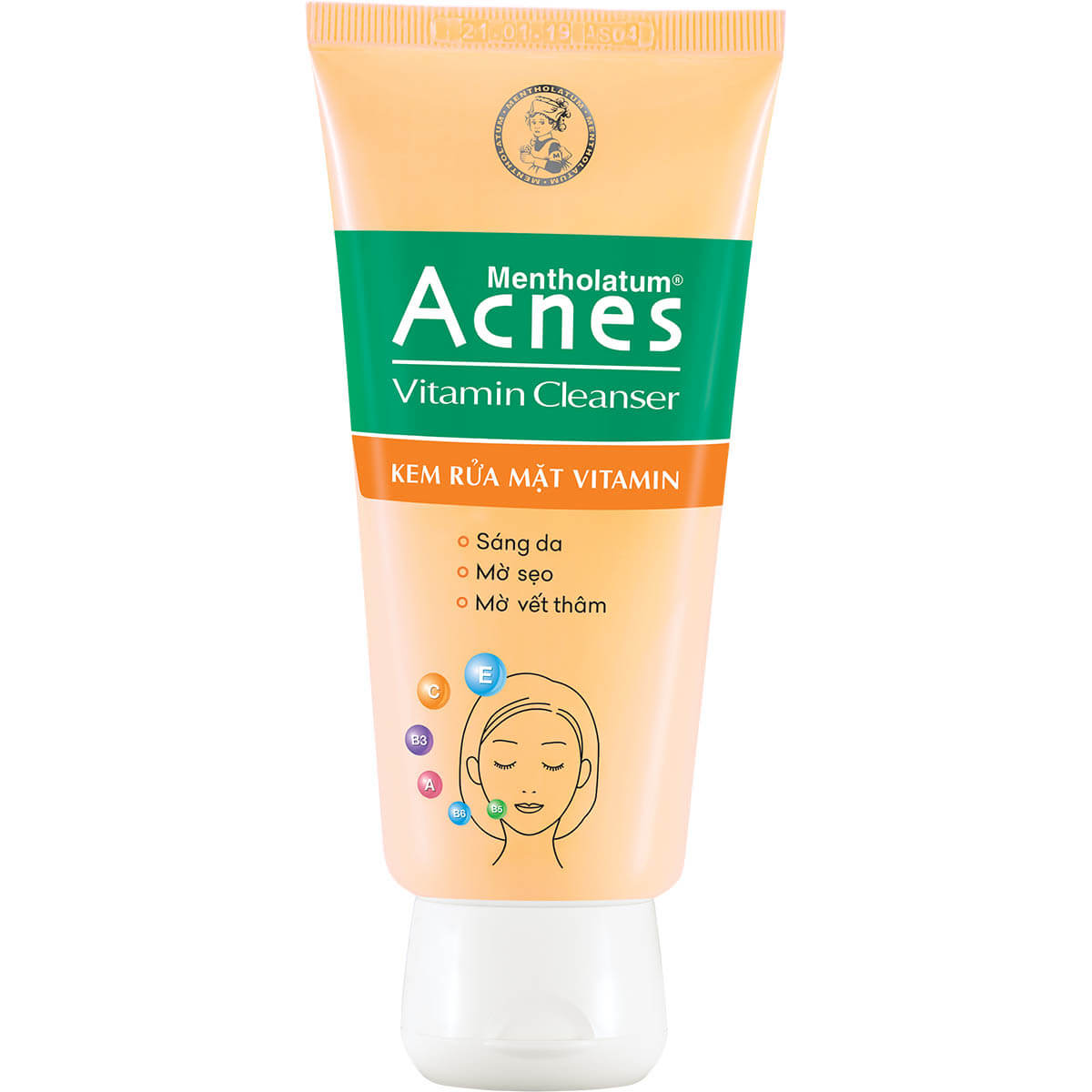 Sữa rửa mặt Acnes Vitamin Cleanser tuýp 50g