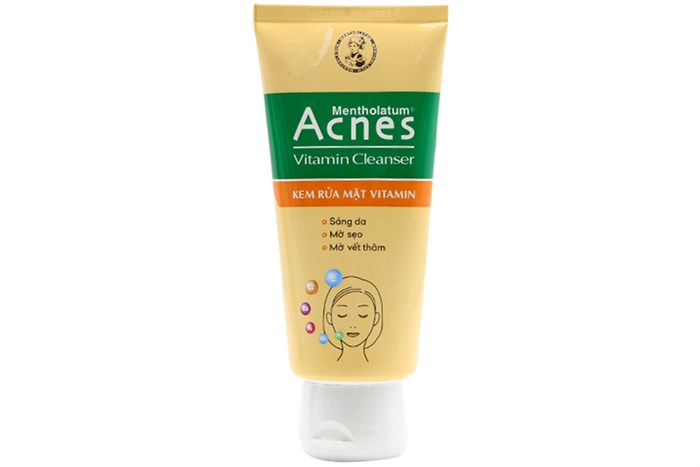 Sữa rửa mặt ngừa mụn Acnes Vitamin Cleanser tuýp 100g