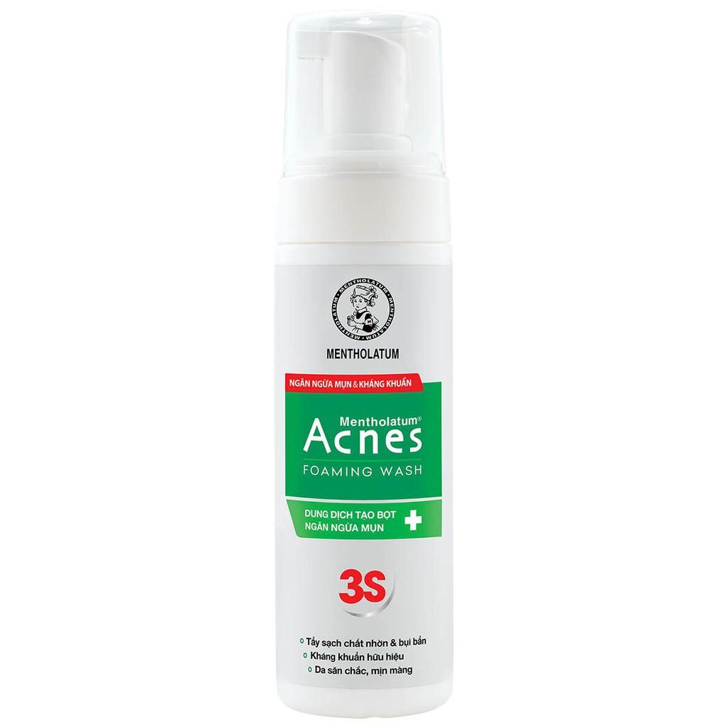 Dung dịch tạo bọt ngăn ngừa mụn Acnes Foaming Wash 3S chai 150 ml