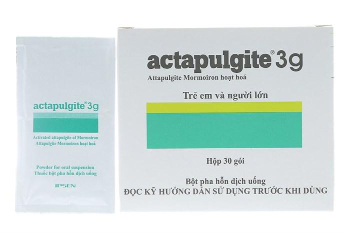 Thuốc trị tiêu chảy, chướng bụng  Actapulgite 3g hộp 30 gói