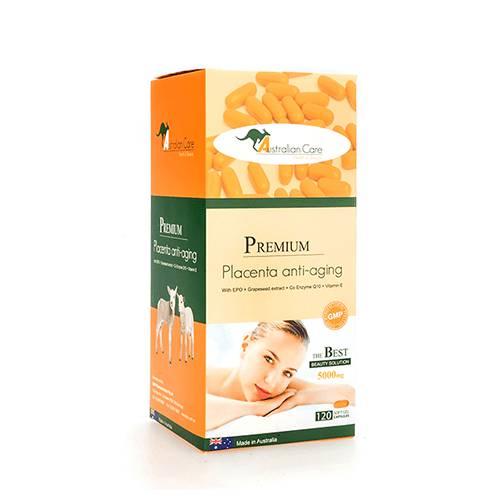 Viên uống chiết xuất nhau thai cừu Premium Placenta Anti-Aging  hộp 1 lọ 120 viên