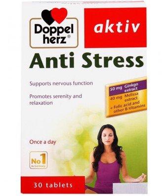 Viên uống hoạt huyết dưỡng não Anti Stress aktiv hộp 30 viên
