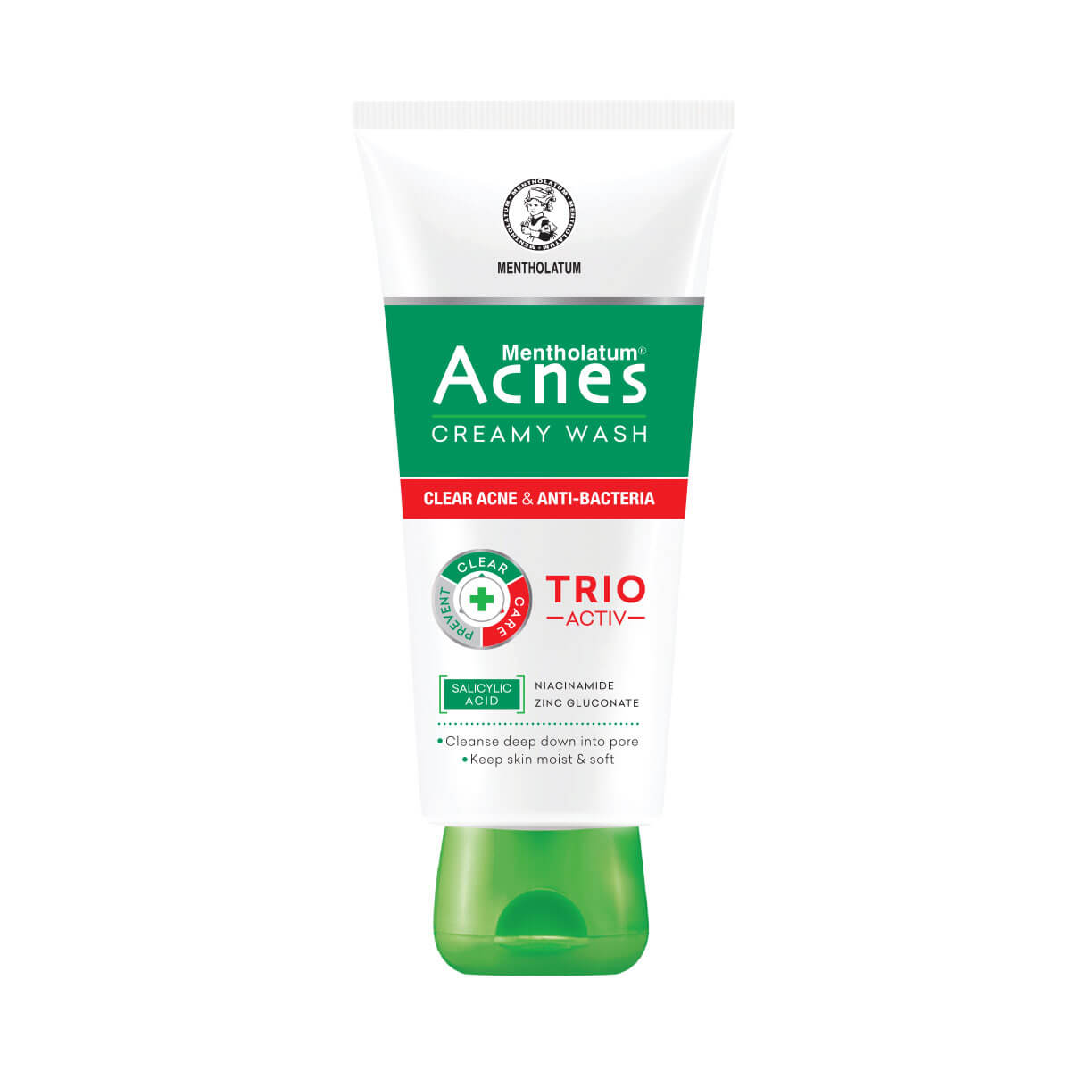 Kem rửa mặt ngừa mụn Acnes Creamy Wash hộp 1 tuýp 50g