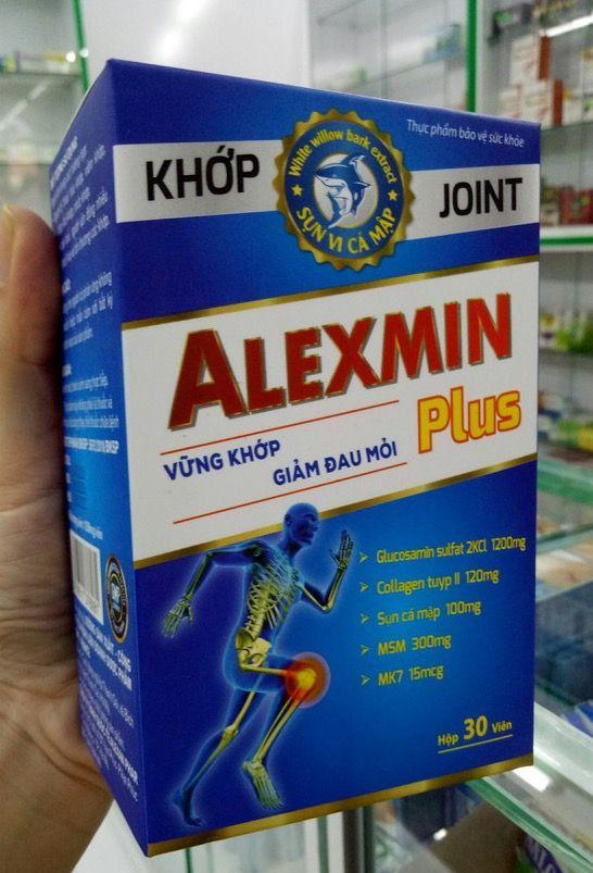 Viên uống hỗ trợ xương khớp ALEXMIN plus hộp 1 lọ 30 viên